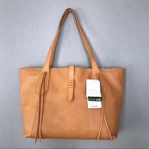 The Sak Heritage Tan Leather Laptop Tote NWT